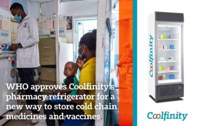 WHO approval pharmacy fridge Coolfinity
